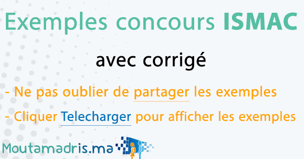 Exemple concours ISMAC