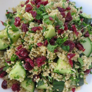 Quinoa Salad with Cucumber and Cranberries