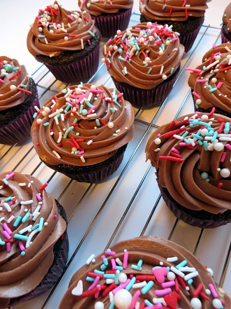 Chocolate Cupcakes with Nutella Frosting recipe at mouthhalffull.com