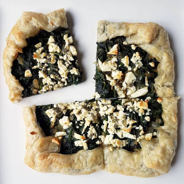 New recipe for spinach and feta galette is up onthebloghellip