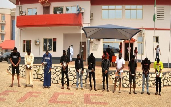 EFCC arrests 11 suspected fraudsters, recovers 12 exotic cars