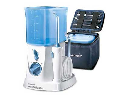 Waterpik wp900 electric toothbrush and power flosser.