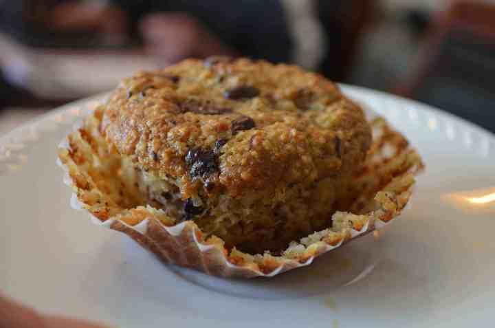 Paleo, Gluten-free, Banana Chocolate Chunk Muffins