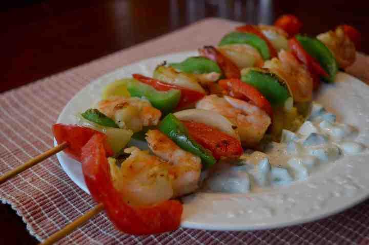 Tropical Shrimp Dinner For One!-Recipe
