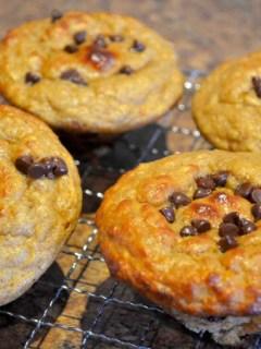 Banana Chocolate-Chip Protein Souffle Muffins