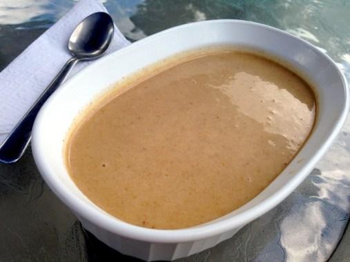 Cinnamon Butterscotch Protein Fruit Dip (Dairy-Free)
