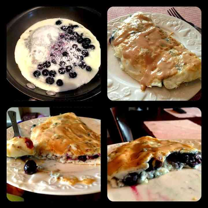 Sweet Blueberry Coconut Omelette