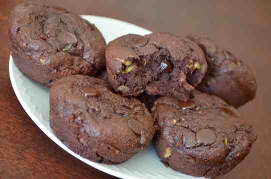 Fudgey Chocolate Zucchini Muffins (Keto)