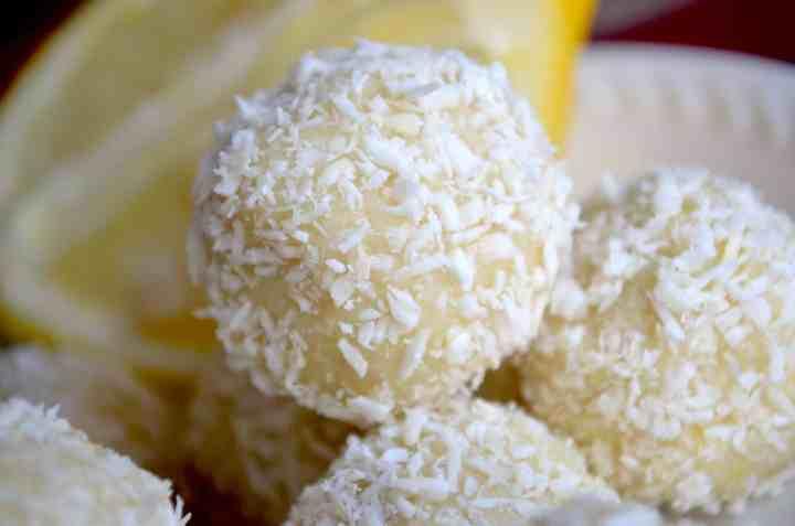 keto lemon coconut fat bombs