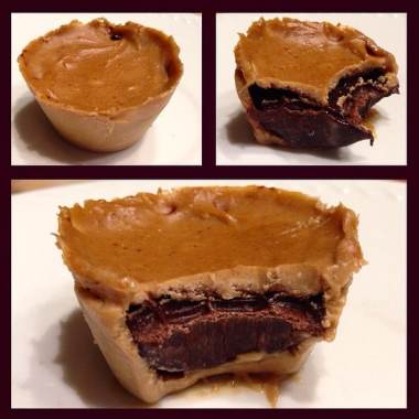 Inside-Out Chocolate Peanut Butter Protein Cups