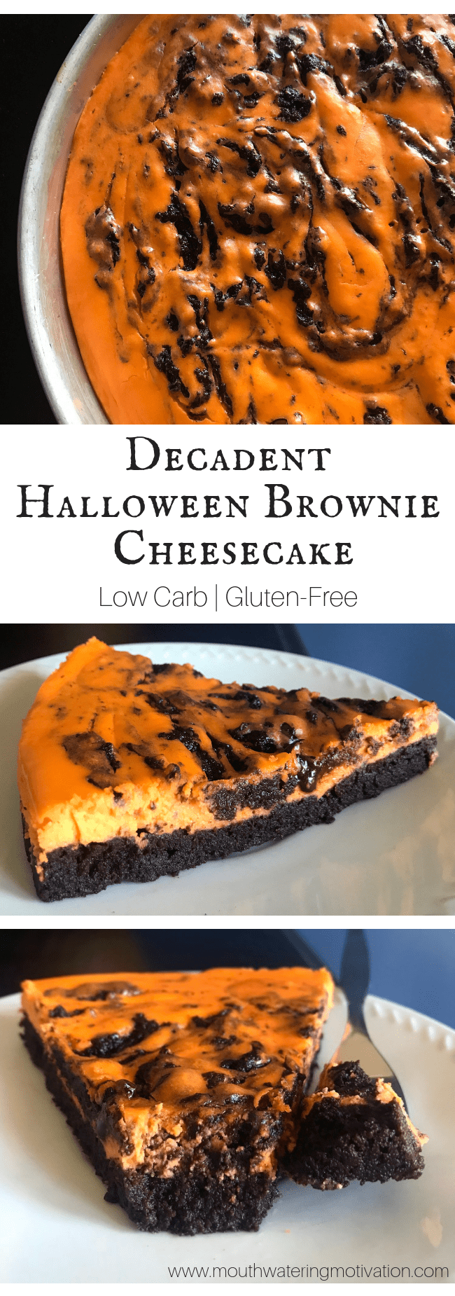keto halloween brownie cheesecake