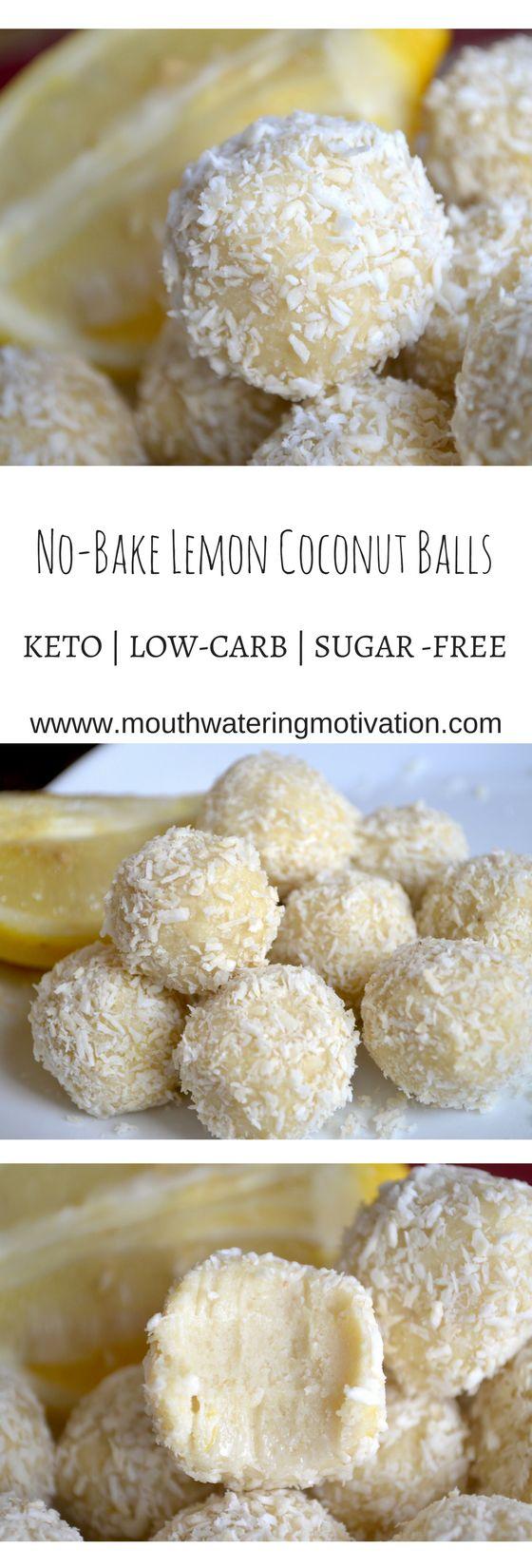 keto lemon coconut balls