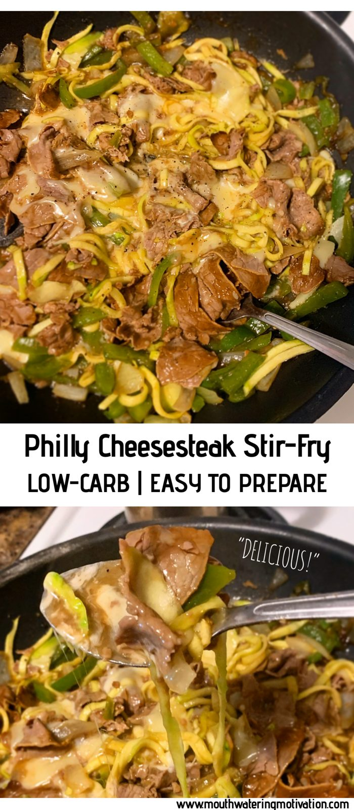 low-carb philly cheesesteak stir-fry