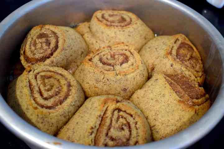 keto soft and gooey cinnamon rolls