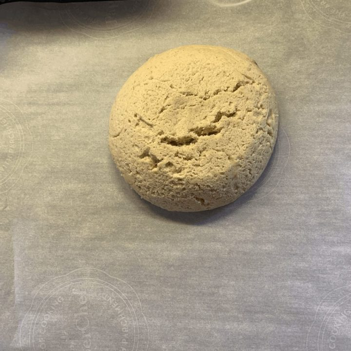 keto cinnamon roll dough after rising