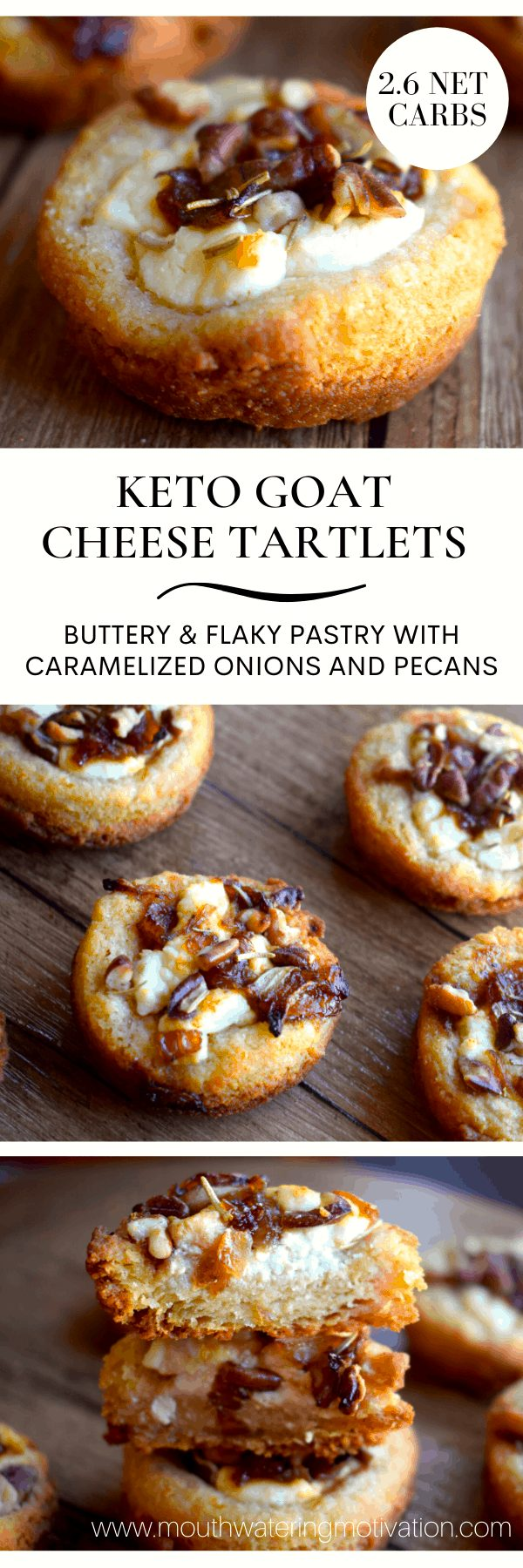 KETO GOAT CHEESE TARTLETS