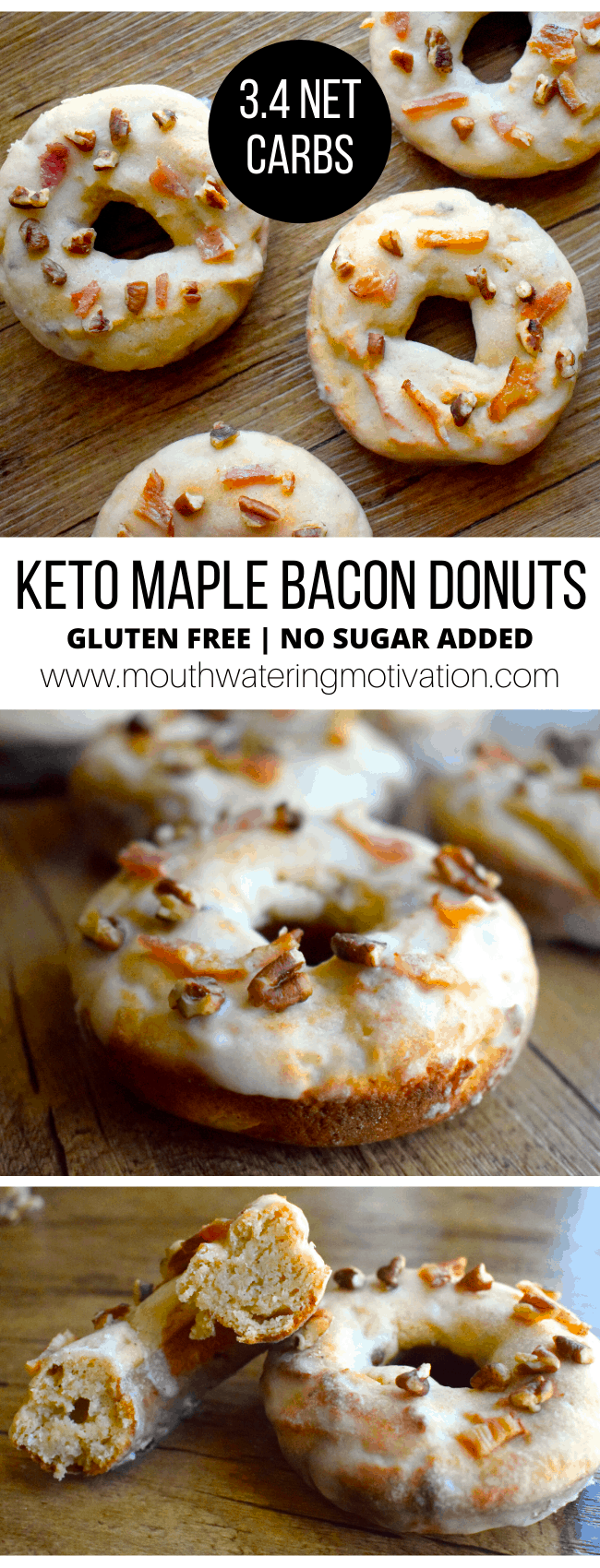 keto maple bacon donuts