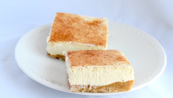 keto snickerdoodle cheesecake bars recipe