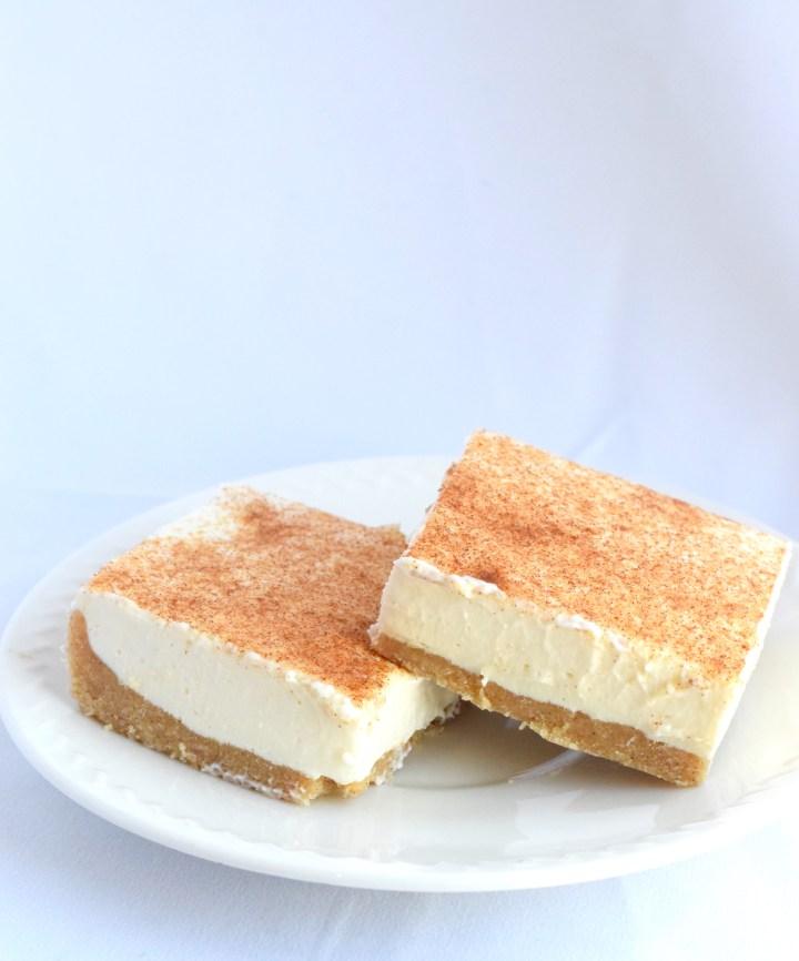 keto low carb cheesecake no bake bars