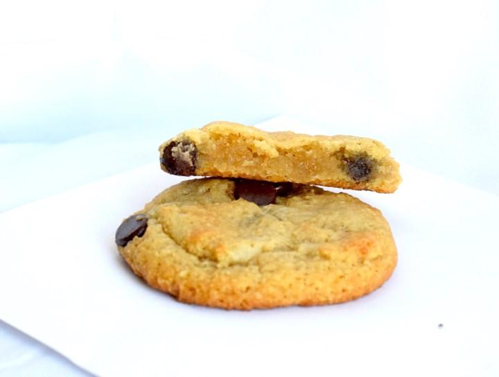 keto fat head dough chocolate chip cookie