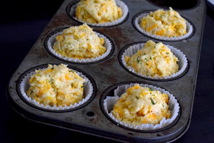 keto cheddar muffins parsley