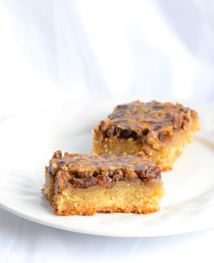 sugar free low carb pecan pie bars