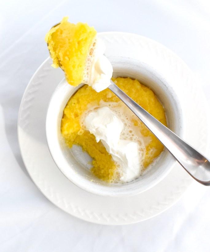 easy low carb lemon mug cake recipe
