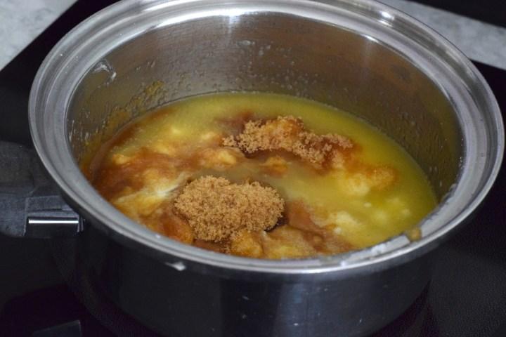 butter, brown sugar sweetener, monkfruit sweetener