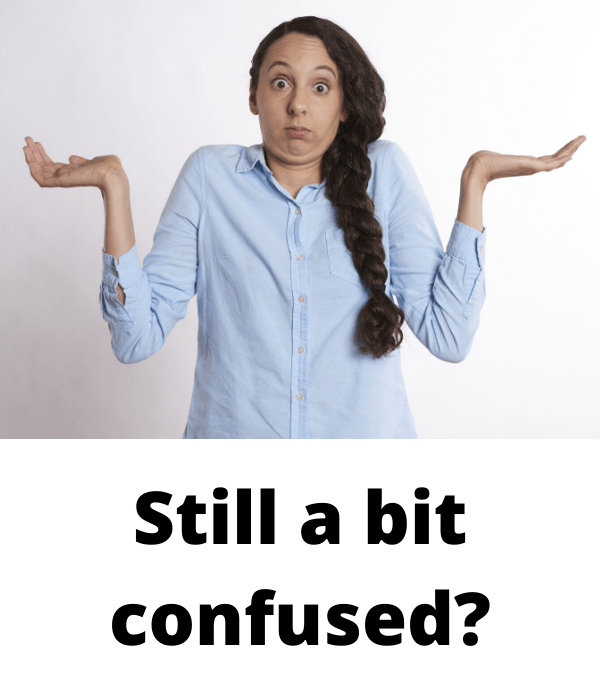 Still a bit confused?