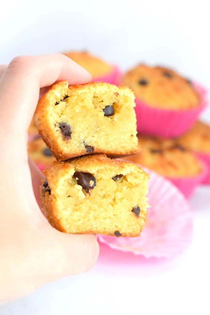 healthy keto chocolate chip muffins