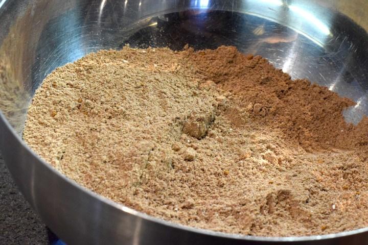 almond flour, coconut flour, cocoa powder, Xanthan Gum