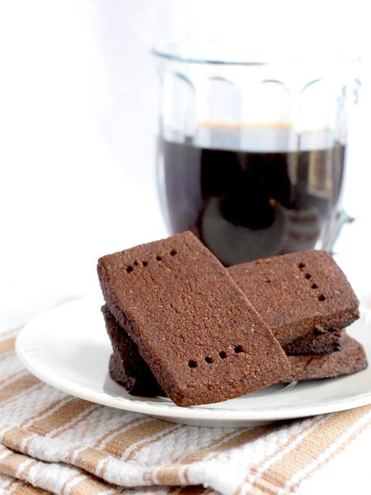 Keto Chocolate Shortbread Cookies