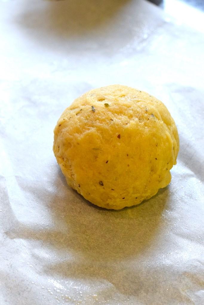 kneaded keto bread dough