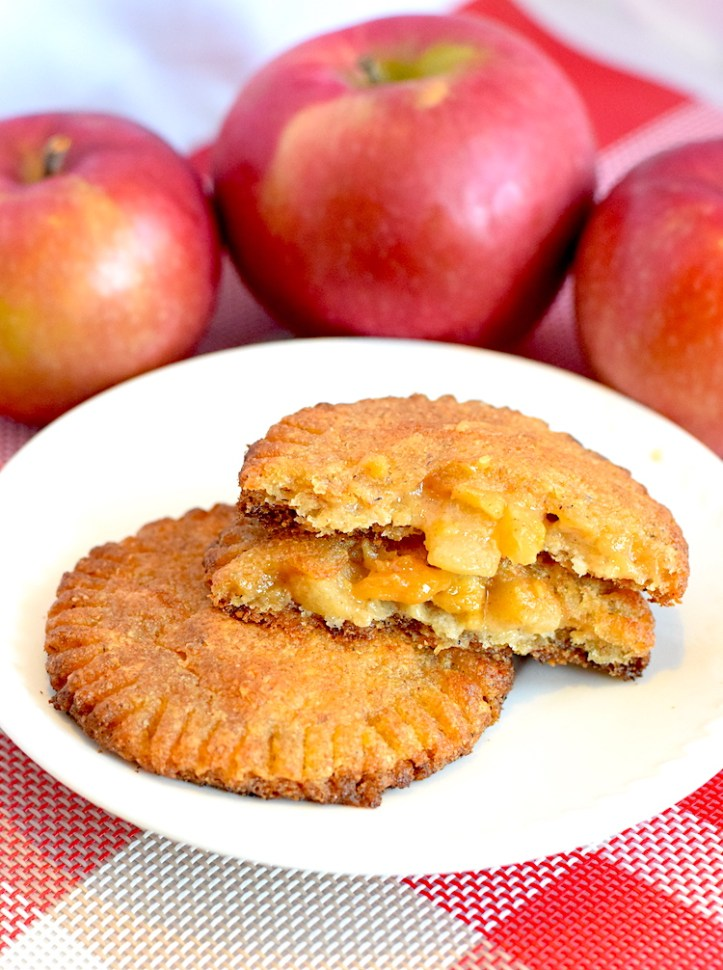 low carb caramel apple hand pies