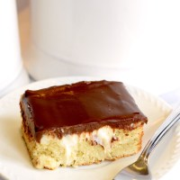 Keto Boston Cream Poke Cake