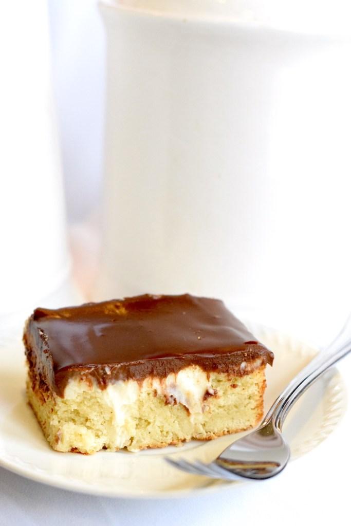 keto boston cream cake