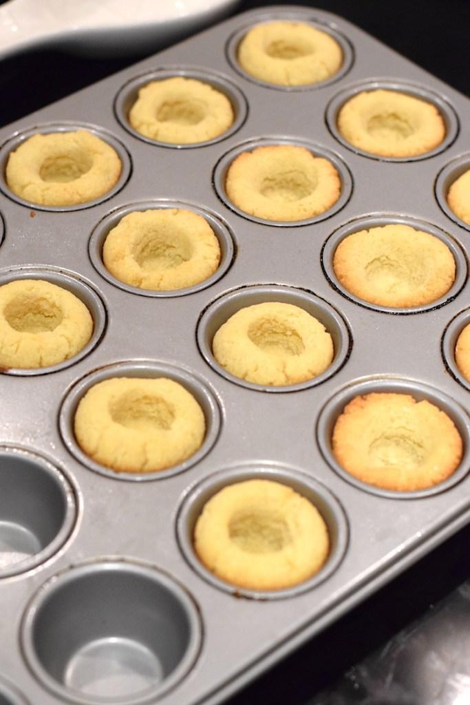 keto baked sugar cookie cups
