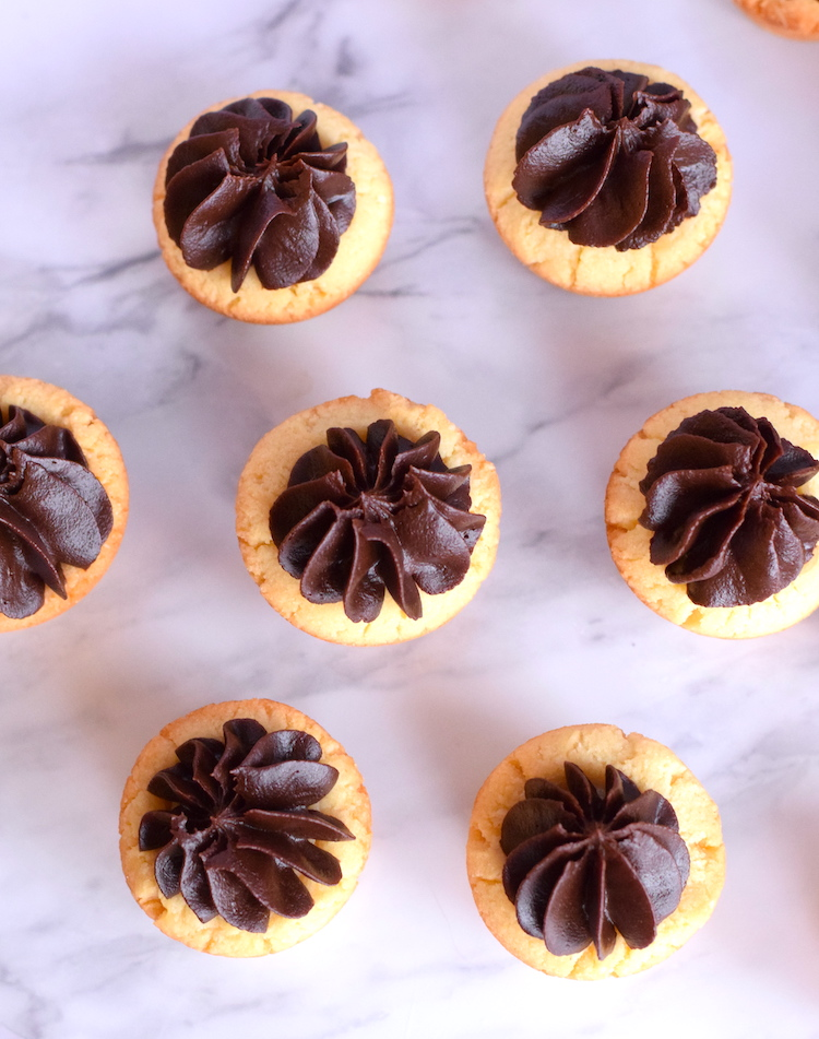 low carb twix cookie cups
