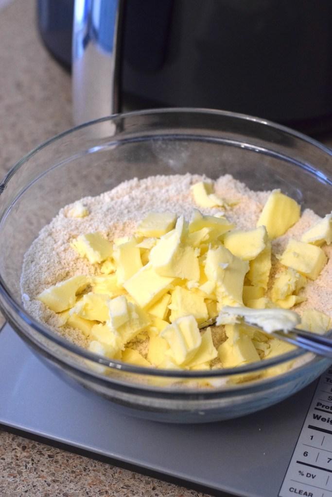 cold butter, coconut flour