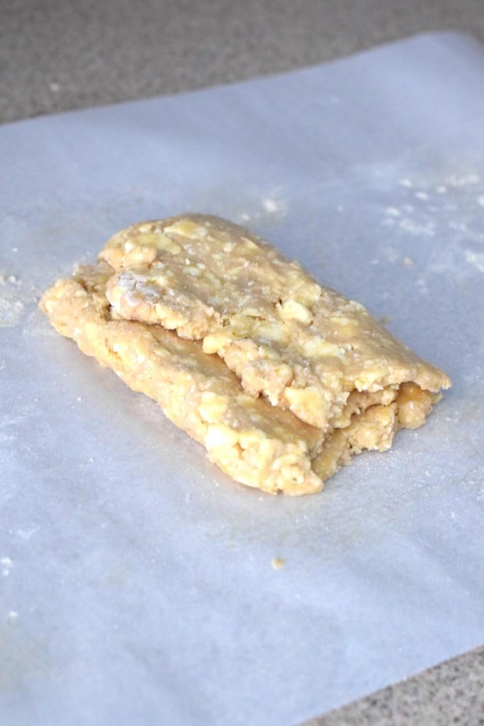 keto pastry dough folded