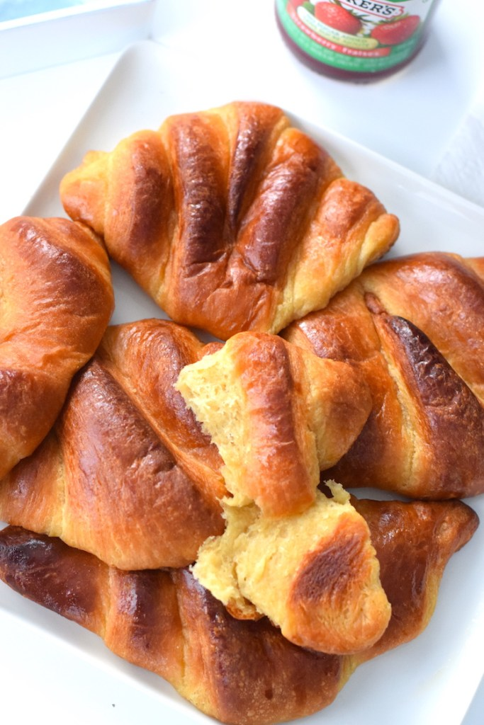 soft and fluffy keto croissants