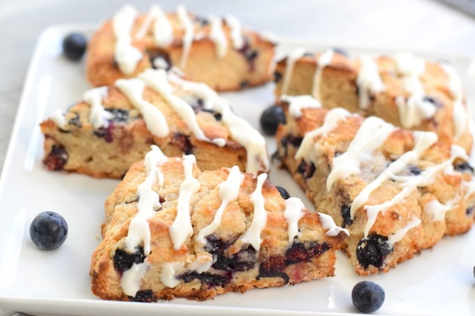 healthy low carb blueberry scones