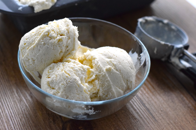 keto vanilla ice cream no ice cream maker