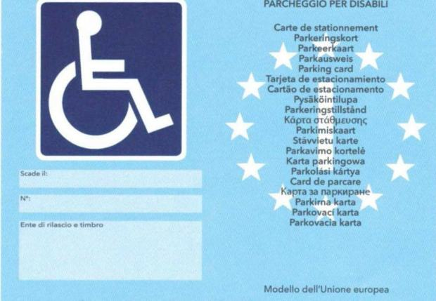 European parking permit for disabled people
