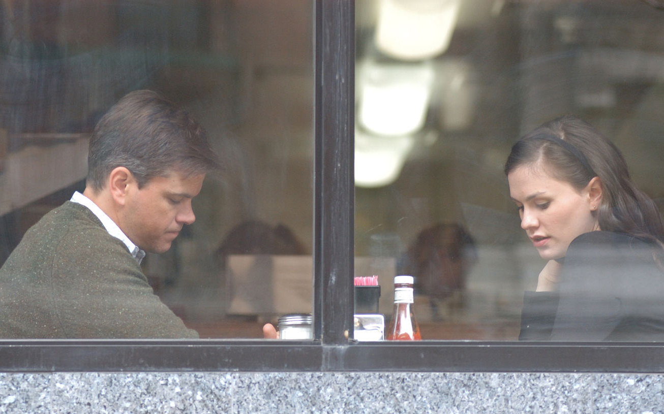 "Matt Damon and Anna Paquin in Kenneth Lonergan's ""Margaret"""