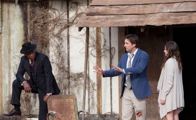 "Samuel L. Jackson, Luke Wilson, and Peyton List in ""Meeting Evil"""