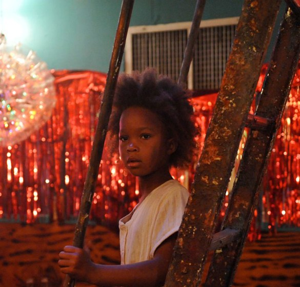 Quvenzhané Wallis in a scene from Court 13 and Benh Zeitlin's Beasts of the Southern Wild