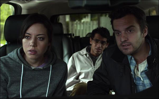 "Aubrey Plaza, Karan Soni and Jake Johnson in ""Safety Not Guaranteed"""