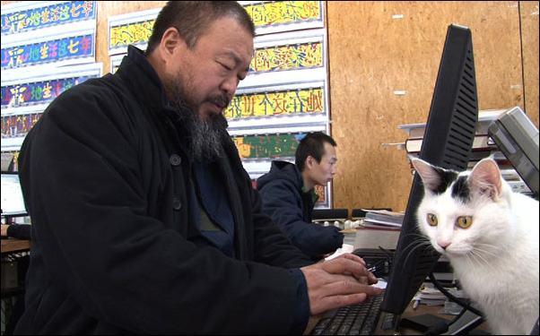 Ai Weiwei in a scene from Alison Klayman's documentary Ai Weiwei: Never Sorry
