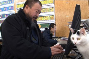 Ai Weiwei in a scene from Alison Klayman's documentary Ai Weiwei: Never Sorry